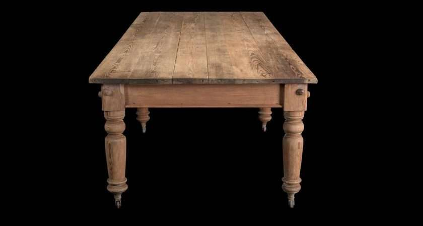 Massive Scrubbed Pine Dining Table Sale Stdibs