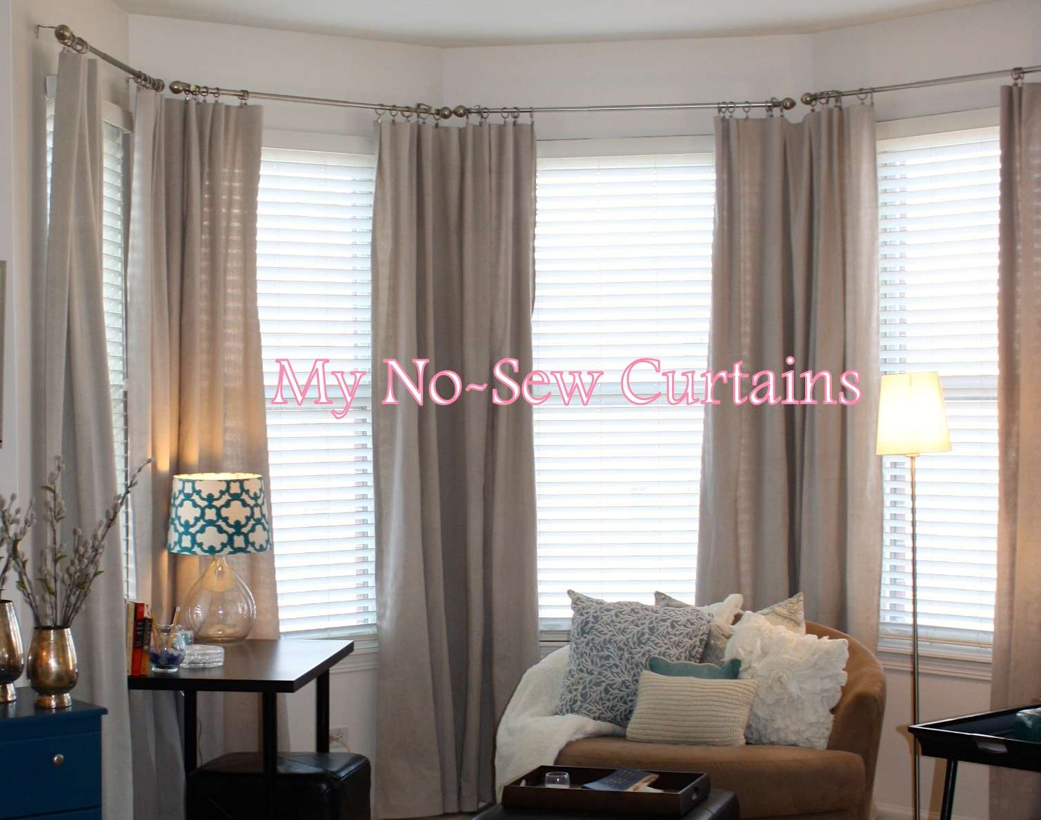 Master Bedroom Mentioned Easy Sew Inexpensive Curtains