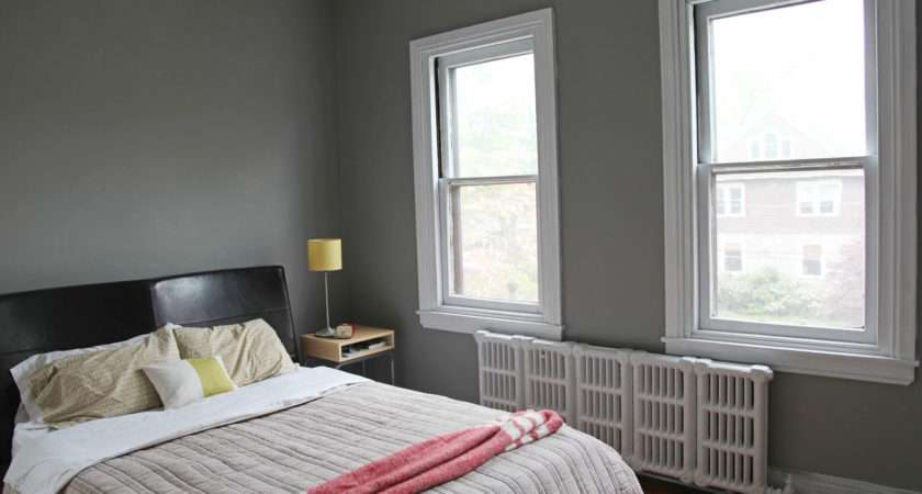Master Bedroom New Gray Wall Color White Trim