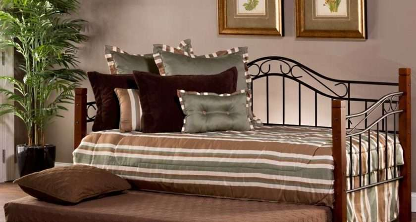 Matson Iron Wood Daybed Cherry Black Humble Abode