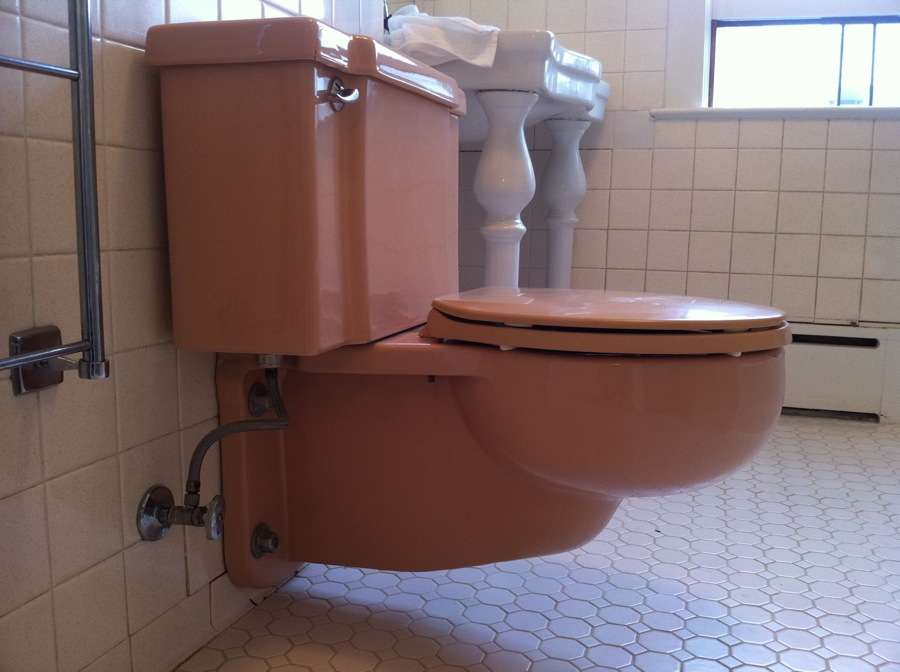Mauve Wall Mounted Toilet Have Lots Questions Surrounding
