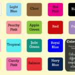 Mdf Painted Colour Chart Kids Names Wedding