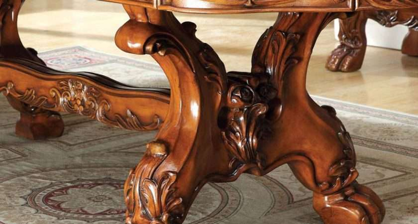 Medieve English Style Antique Oak Finish Piece Formal