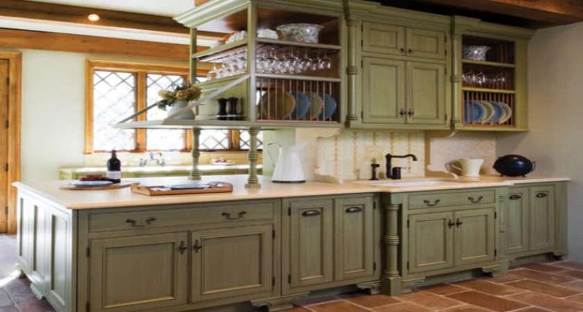 Mediterranean Kitchen Cabinets Pantry