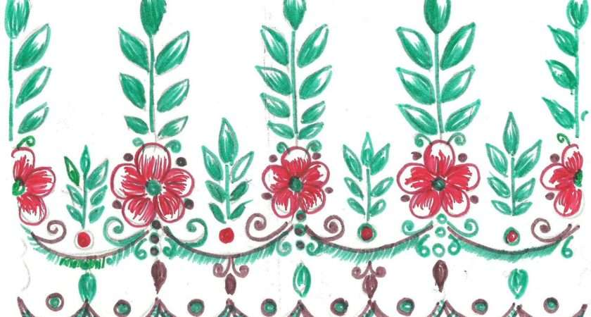 Mehndi Sketch Embroidery Painting Fabric Paint Designs