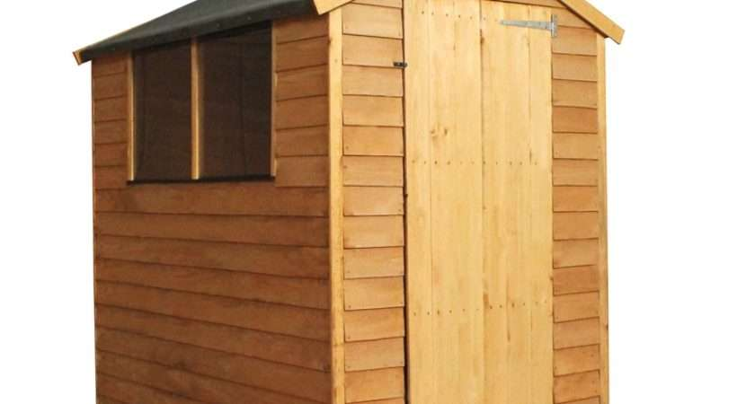 Mercia Light Brown Overlap Apex Wooden Shed