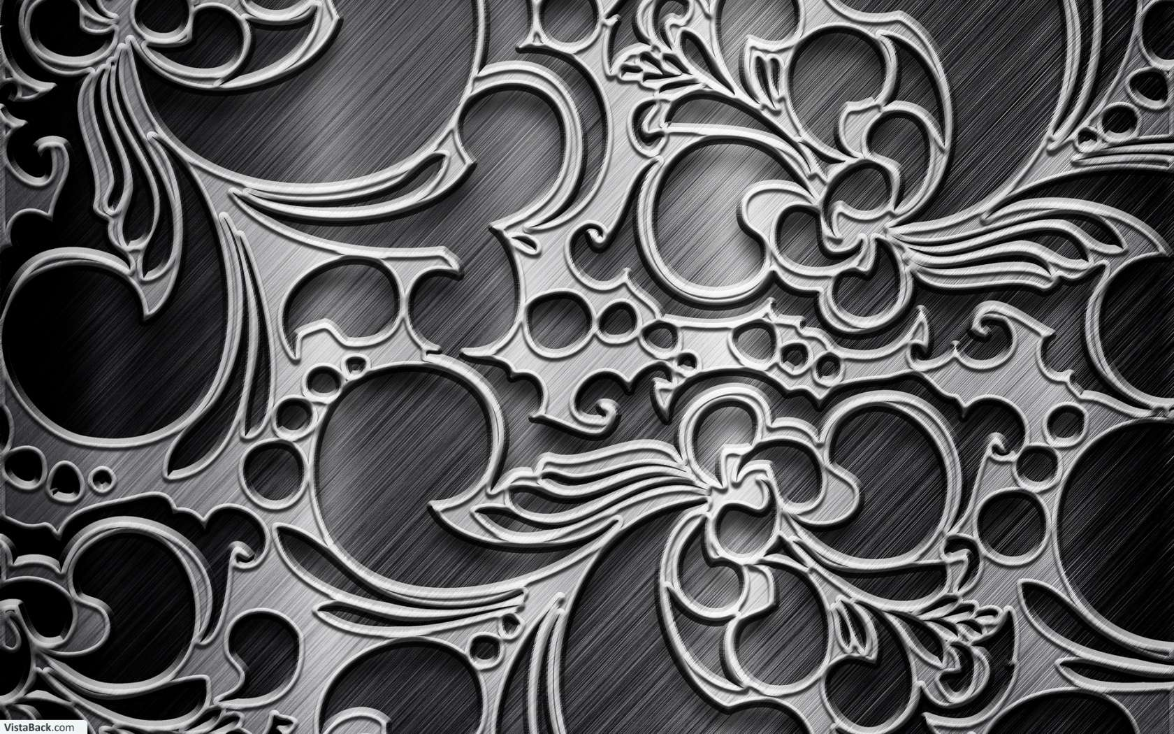 Metallic Black Silver Pattern