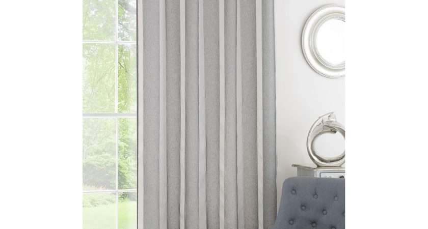 Metallic Stripe Voile Curtain Black Curtains
