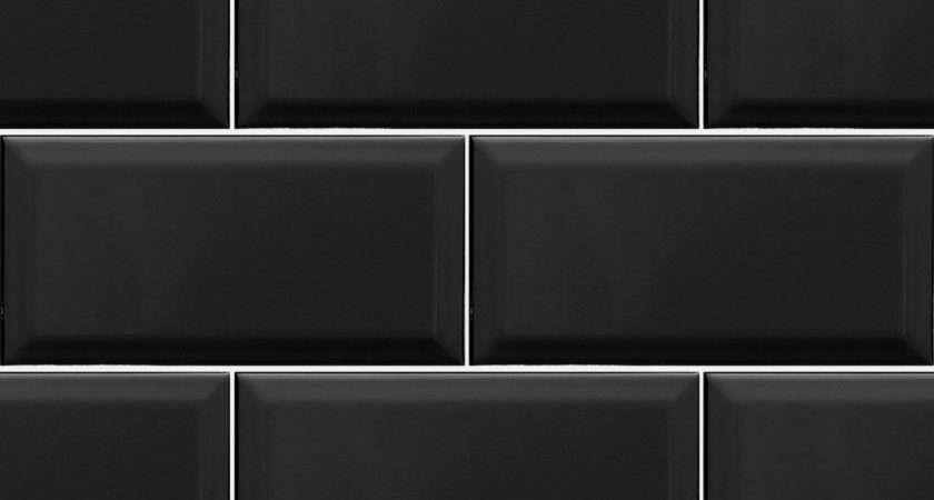 Metro Black Wall Tiles Revestimento Textura Piso