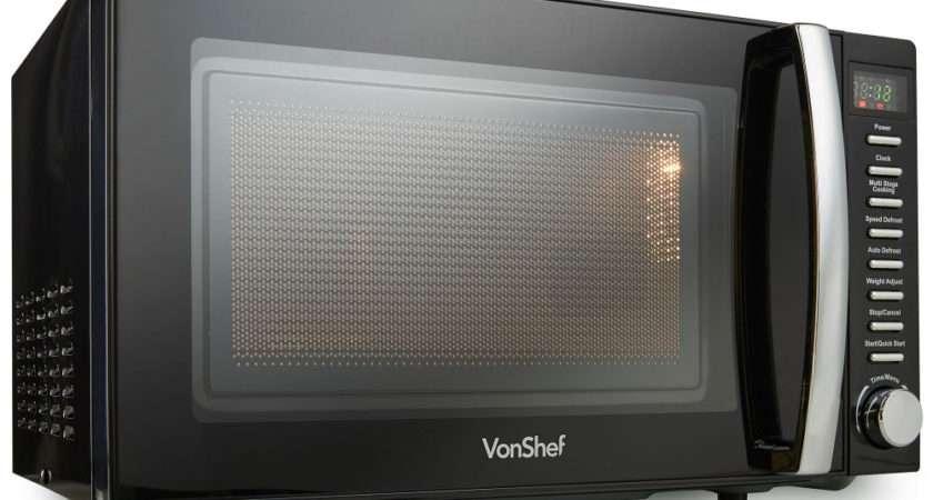 Microwave Black Digital Vonshef