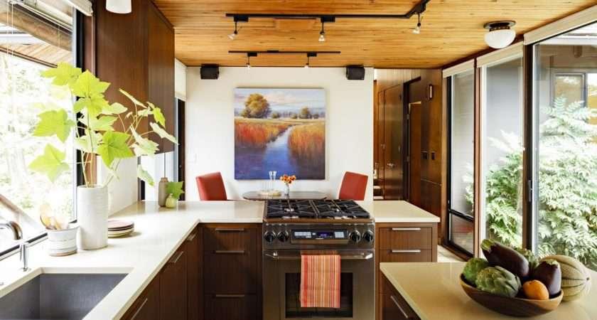 Mid Century Modern Kitchen Design Ideas Country Table Black Iron