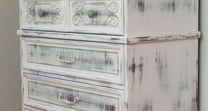 Milk Painted Shabby Chippy Chic Dresser Salvaged