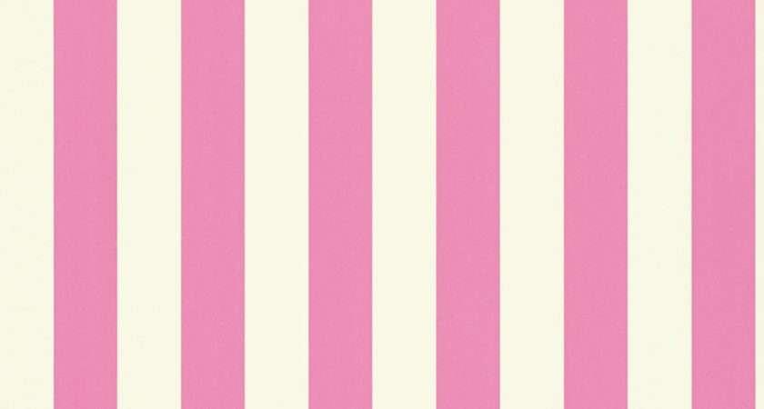 Mimi Stripe Pink White Harlequin