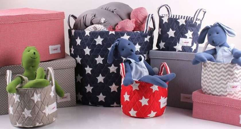 Minene Toy Storage Bags Large Fabric Baskets Funky Nursery