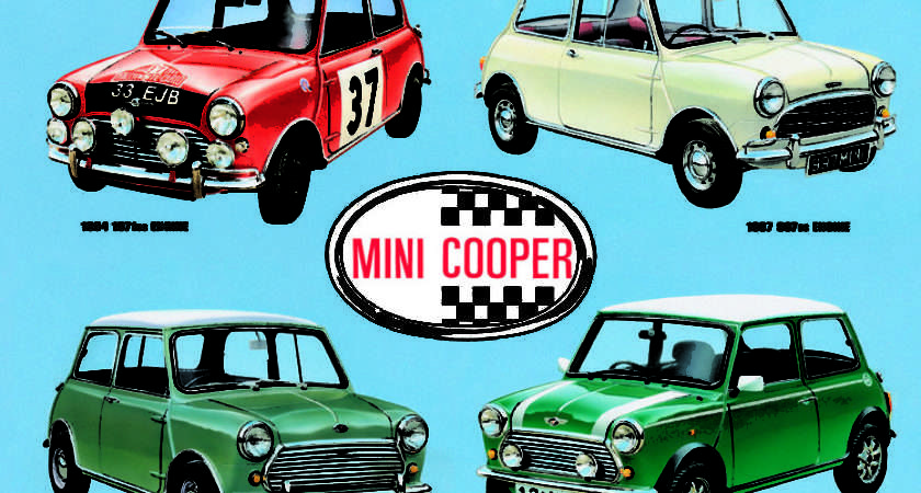 Mini Cooper Collage Tin Signs Metal Sold Europosters