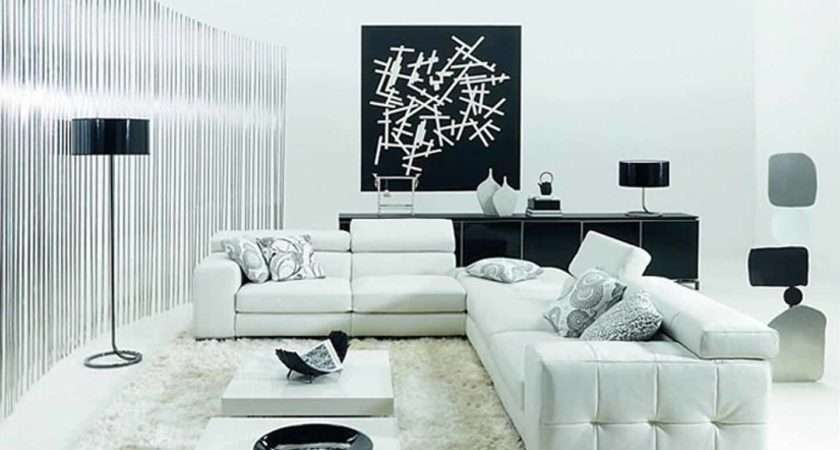 Minimalist Black White Living Room Furniture Ideas