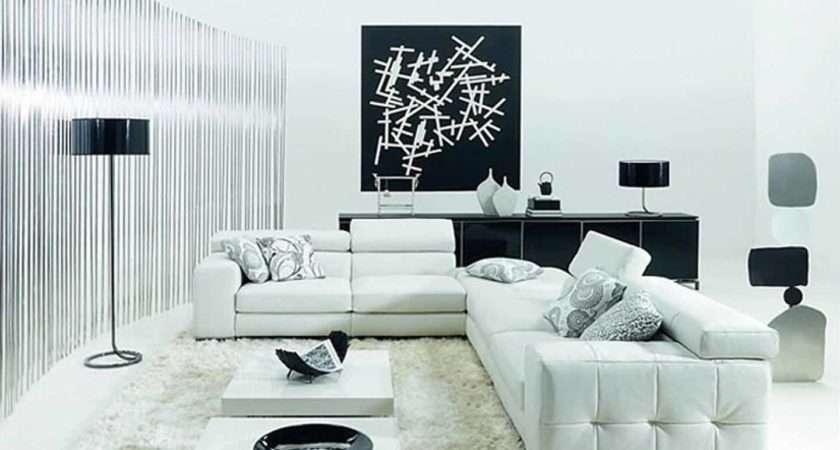 Minimalist Black White Living Room Furniture Inspiration