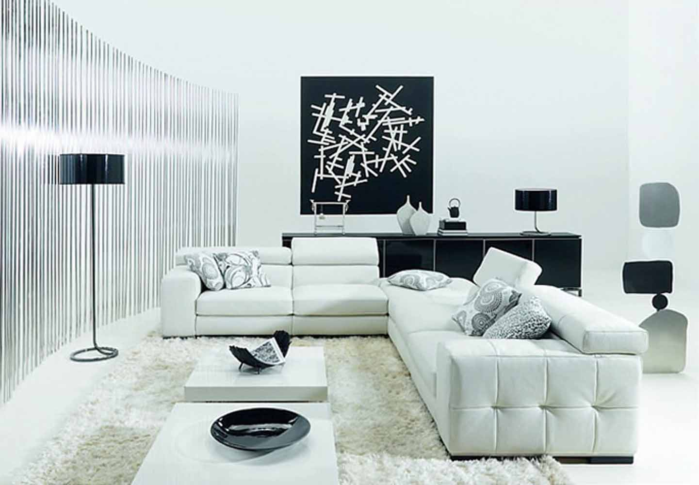 Minimalist Black White Living Room Furniture Inspiration