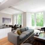 Minimalist Open Concept Kitchen Living Room Decorating