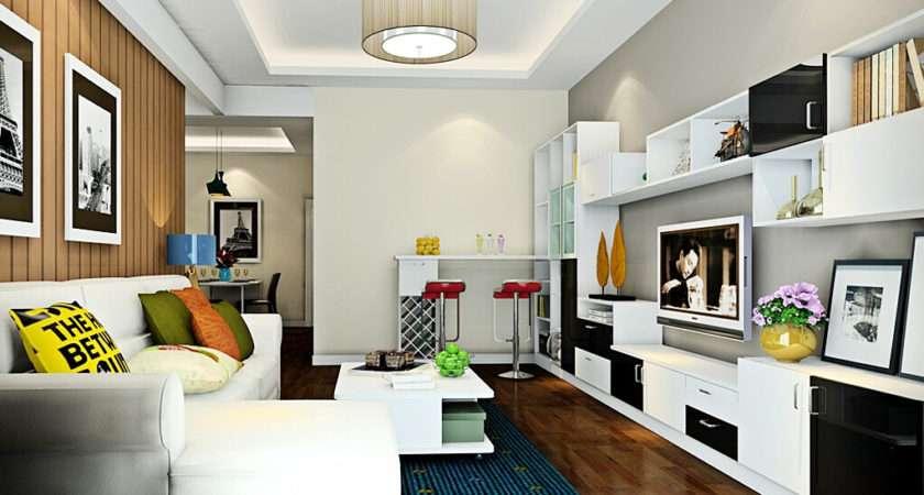 Minimalist Sitting Room Mini Bar