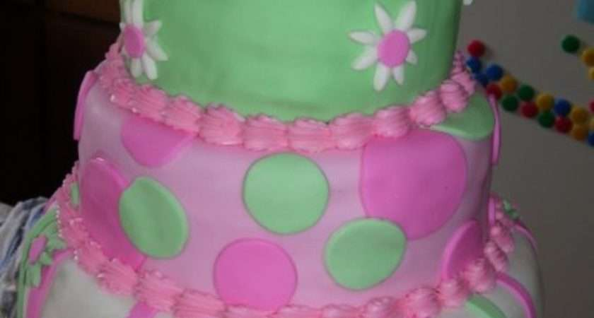 Mint Green Pastel Pink Cake Stripes Circles