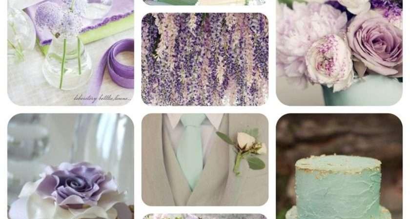 Mint Lilac Gold Wedding Colour Scheme