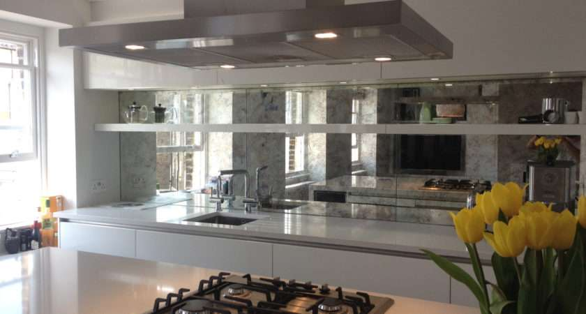 Mirrored Kitchen Splashbacks Saligo Design Presents Stunning