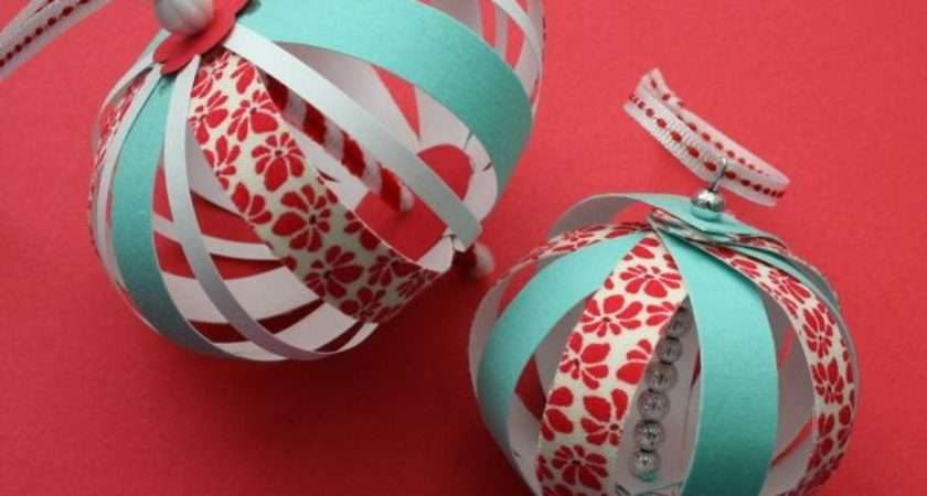Mmmcrafts Experimenting Paper Fabric Ornaments