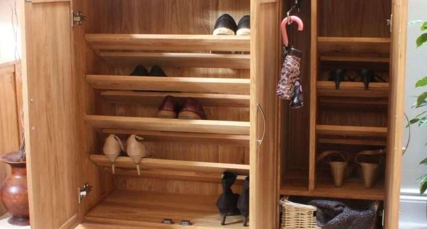 Mobel Solid Oak Extra Large Shoe Cupboard Hallway Hall