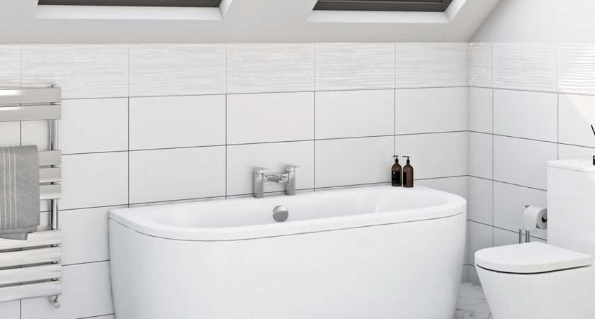 Mode Cayman Shaped Double Ended Back Wall Bath