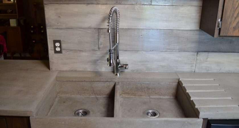 Mode Concrete Modern Contemporary Kitchen Waterfall