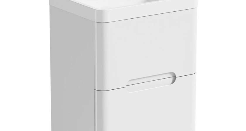Mode Planet White Vanity Drawer Unit Basin