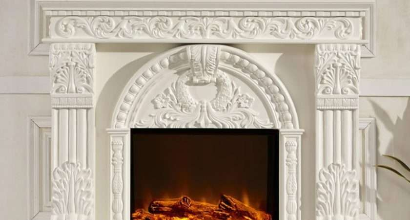 Model Victorian Style Frame Wood Fireplace