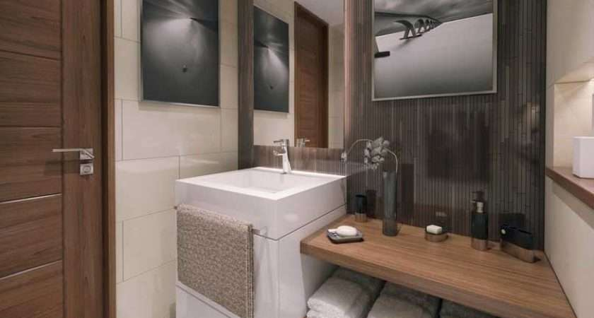Modern Apartment Bathrooms Design Ideas White Vanity
