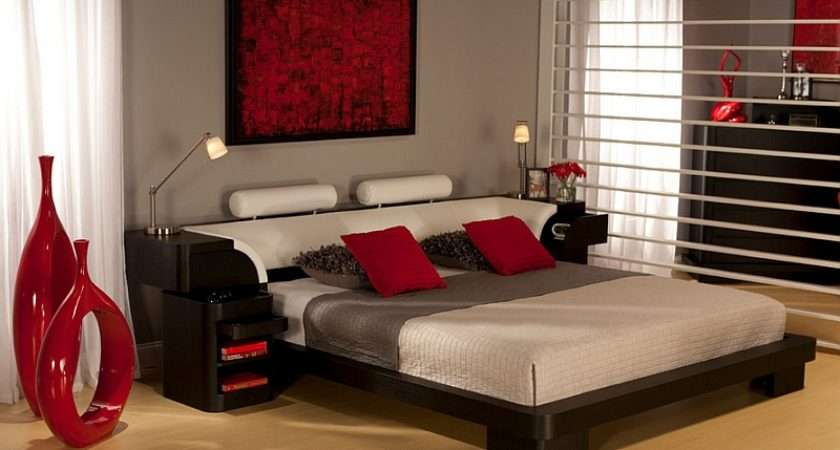 Modern Asian Themed Bedrooms Also Offer Color Spectrum Goes