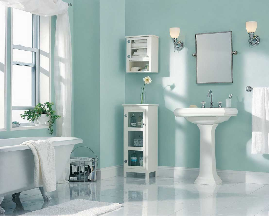 Modern Bathroom Best Colors Bathrooms Soft Blue Wall Paint