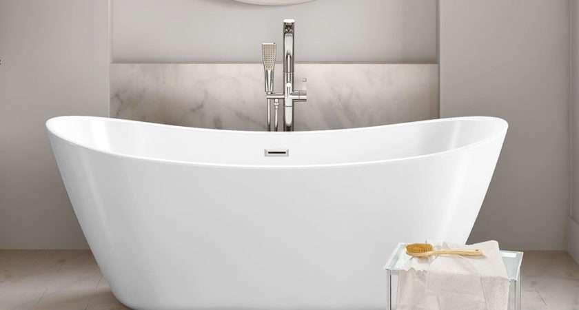 Modern Bathroom Designer Curved Freestanding Roll Top Bath