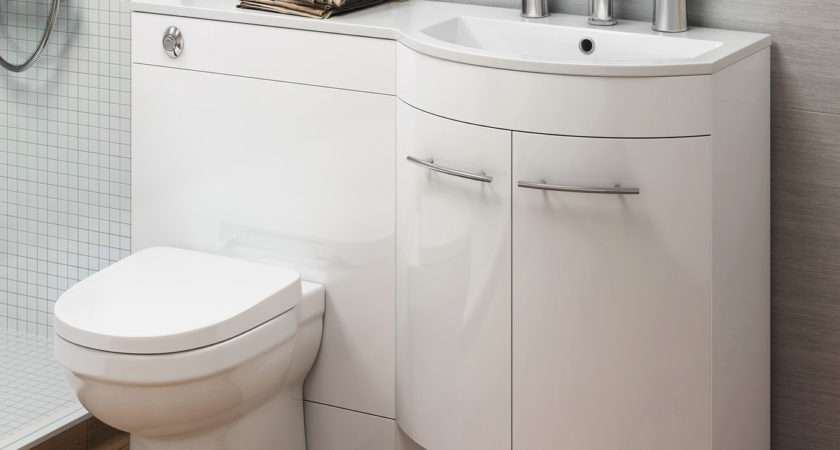 Modern Bathroom Gloss White Vanity Unit Countertop Basin