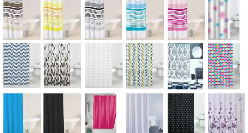 Modern Bathroom Shower Curtain Luxury Designer Range Ring Hooks