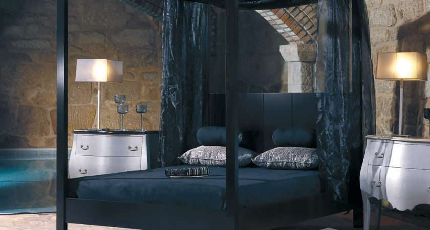 Modern Black Four Poster Bed Juliettes Interiors