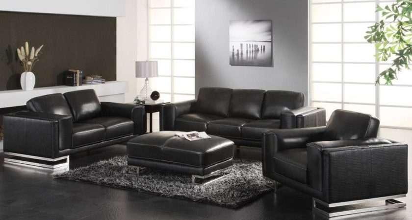 Modern Black Sofas Living Room