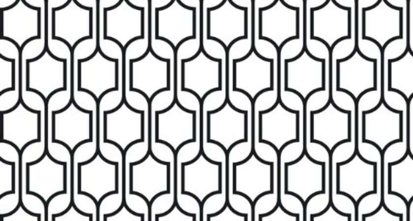 Modern Black White Grasscloth