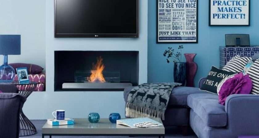 Modern Blue Living Room Decorating Ideas