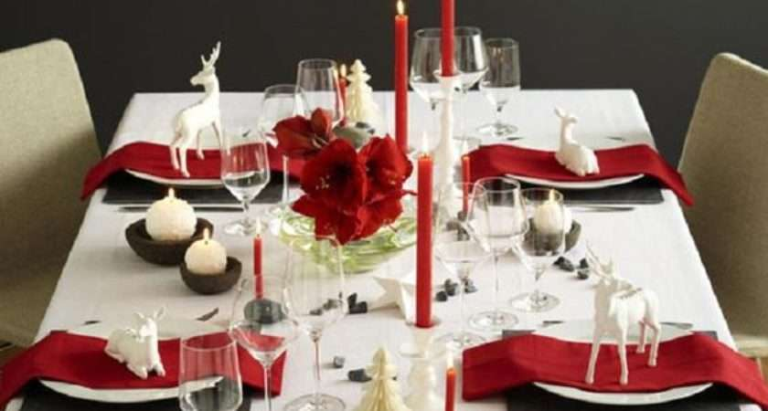 Modern Christmas Table Settings Get Inspired