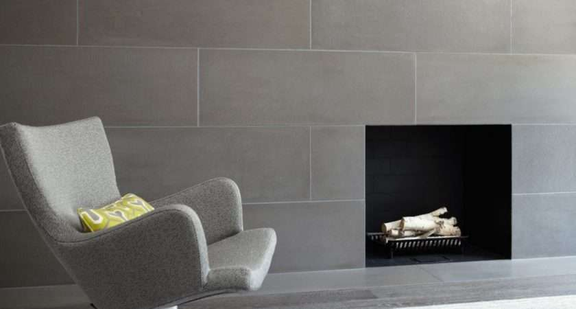 Modern Concrete Tiles Walls Fireplaces Paloform