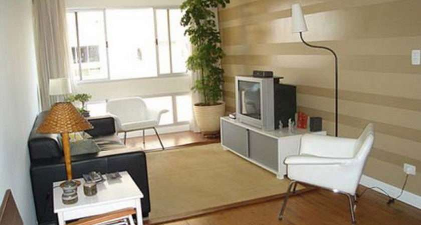 Modern Condo Small Spaces Style Living Room Wooden Flooring