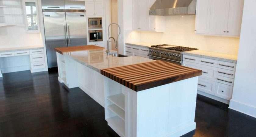 Modern Dark Wooden Floor Kitchen