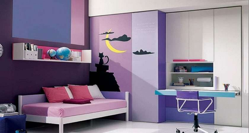 Modern Design Purple Teenage Girl Bedroom Ideas Girls