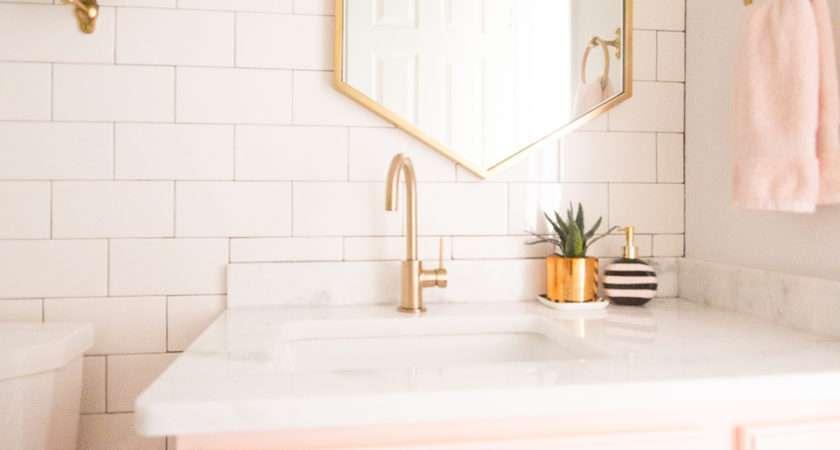 Modern Glam Blush Girls Bathroom Design Mike