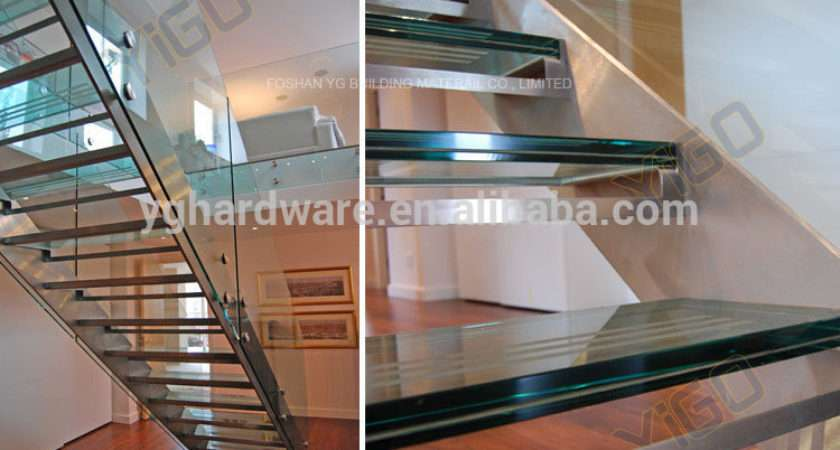 Modern Glass Stairs Stainless Steel Staircase
